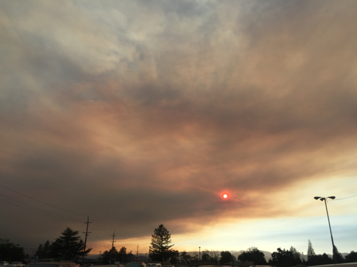 Smoke from 2018 fires from Hwy 199
