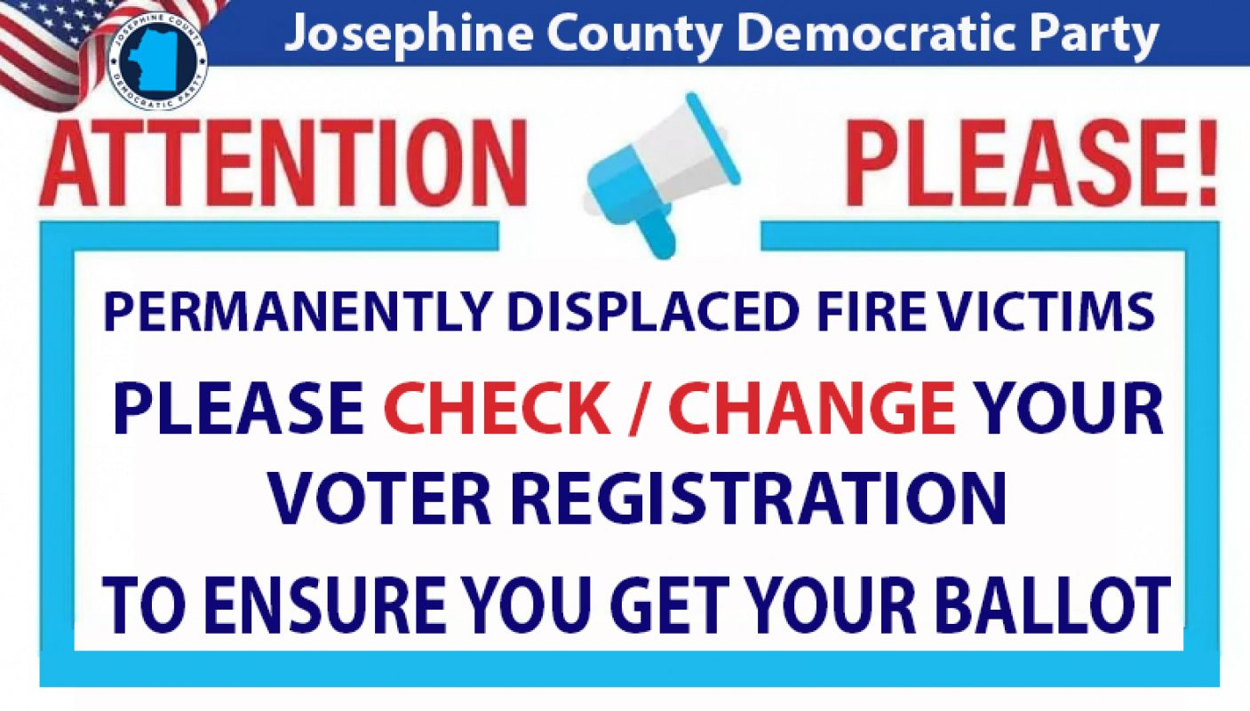 Voter Registration Information for Victims of Recent Fires