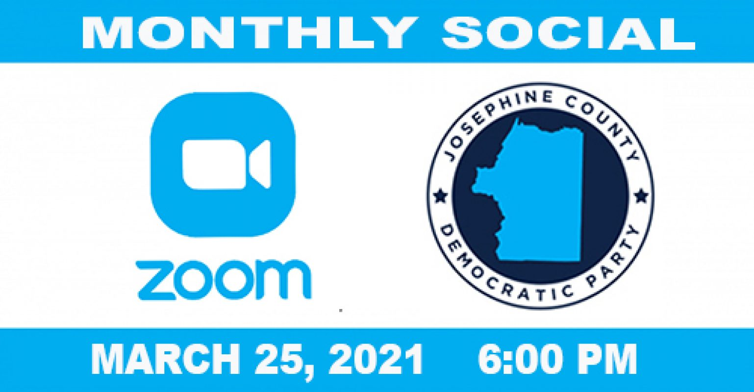 REMINDER! Join us tonight 3/25 for our Monthly Virtual Social!