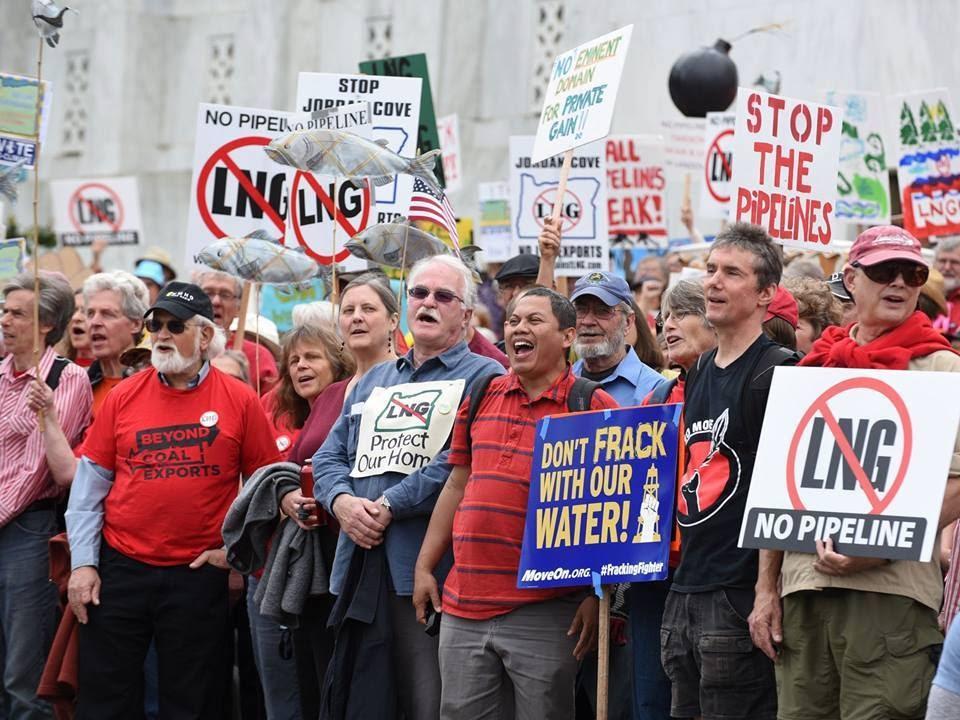 No LNG Exports Protesters