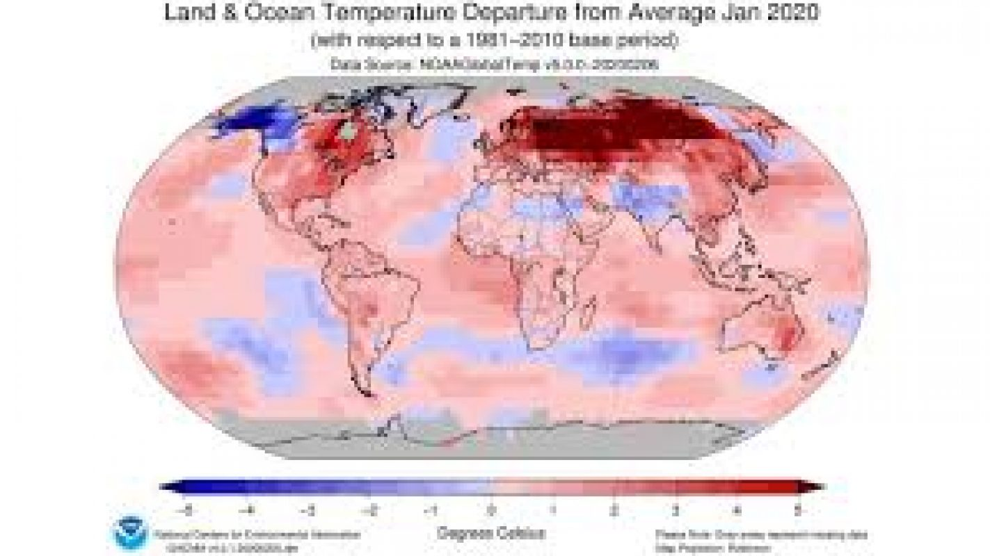 Warmest January Ever Puts 2020 on Track to Be One of Top 10 Hottest Years