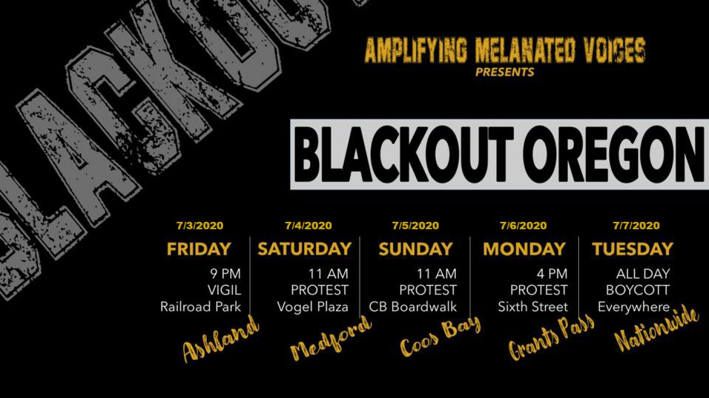 Amplifying Melanated Voices Presents: Blackout Southern Oregon