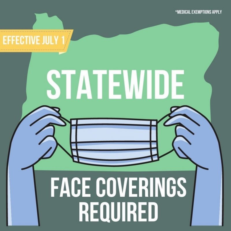 July 1st-Masks Required in Indoor Public Spaces State-Wide