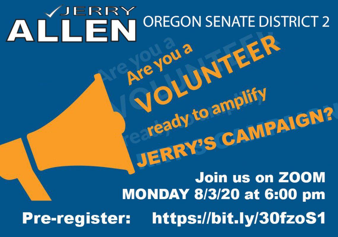 Jerry Allen for Senate Volunteer Meeting